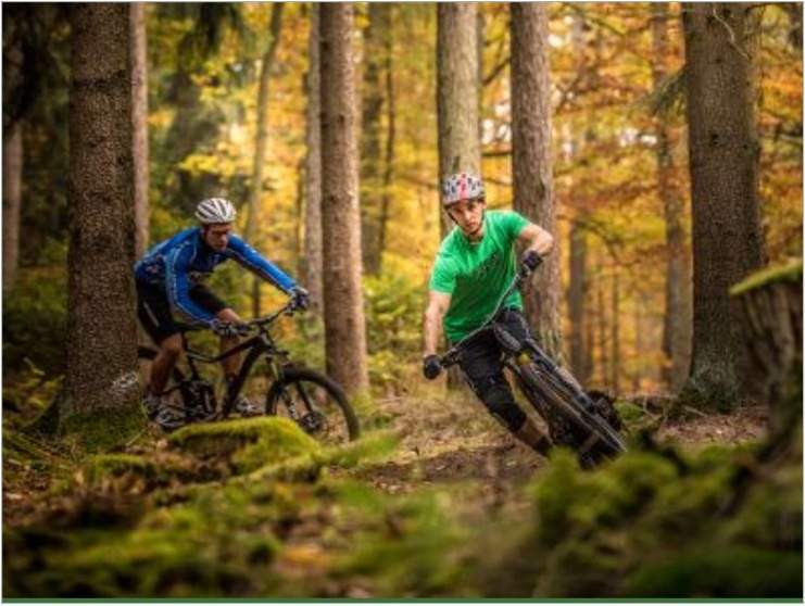 Mountainbike-Fahrer im Spessart
